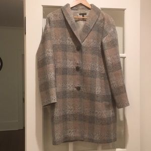 Eileen Fisher Plaid Topper Coat